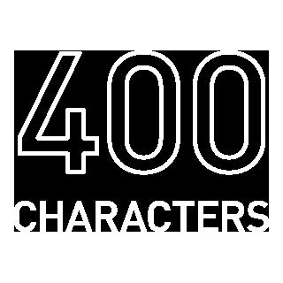 400文字 アイコン